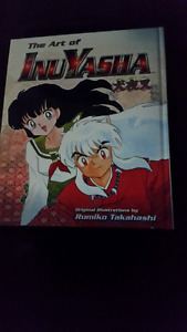 Inuyasha anime hard cover art book