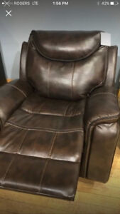 Recliner Love Seat and Chair 2