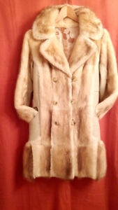 European style natural fur winter coat. Perfect condition