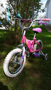 Barbie kids bike.  Used once.  Two small