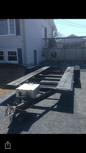 16 foot double axel trailer 2700$ Obo reduced!