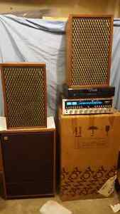 Vintage marantz receiver and 2 sets of tannoy speakers