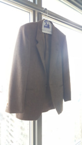 Yves Saint Laurent Mens Wool Blazer Sport Coat Jacket 38 R Brown
