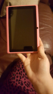 Girls pink 7 inch Android tablet