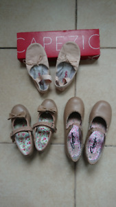 Girl's Dance Shoes: Ballet 9.5, Tap 9 and 12.5
