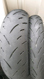 Dunlop GPR300 tyre pair, REDUCED bargain 180/55 120/70