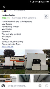 Refrigerated hunting trailer