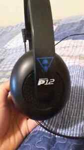 Amazing Turtle Beach P12 Headset As is
