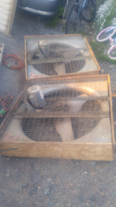 3 large ventilation fans forsale