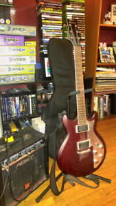 Ibanez electric guitar (with case and amp)