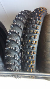 Motorcycle Ice Racing Tires. (Oval)