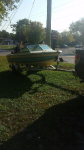 Older grew boat for sale with a mercury outboard 75hp