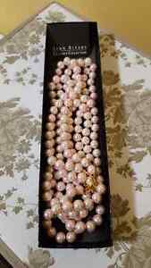 Pink pearl necklace for sale- Joan Rivers collection