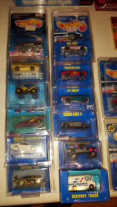 Vintage Hotwheels from the 80's & 90's.