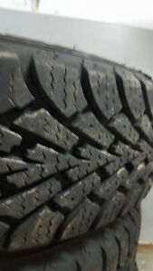 4 GOODYEAR NORDIC WINTER TIRES WITH RIMS Windsor Region Ontario image 2