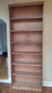 Solid Wood Bookshelf - extra tall