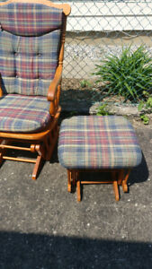 Rocking chair with matching foot stool
