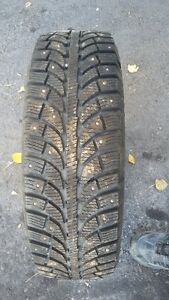 1 pneus  d'hiver   avec crampon