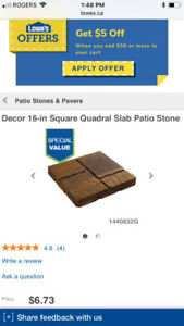Outdoor Paving Stones- 106 blocks