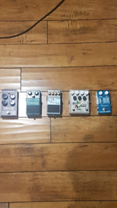 Selling Guitar Pedals (Boss MO2, TC Flanger, EmersonEM, Hot Wax)