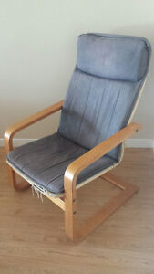 Chair, Kind Of A Rocking Chair - With Blue Padding