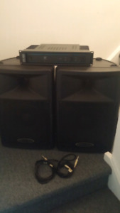 Pa system yorkville amp and speakers
