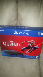 Brand new sealed ps4 1tb spiderman bundle