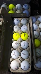 Gently  used Brand Name and X Out Golf balls