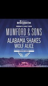 2 X Mumford and Sons tickets Hyde Park 8th July 2016
