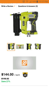 Looking for a ryobi one nailer and ryobi one fan