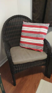 Canvas collection wicker patio chairs