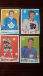 70/71 OPC, Sittler, Clarke, Perrault RC's, Orr, 176 Cards