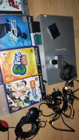 PS2 playstation 2 bundle games camara controlers and more