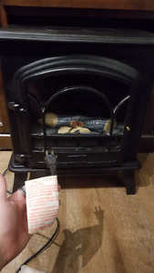 Hardly used fireplace heater