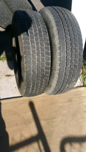 2 tires , 8/32 tread 90% M+S ( Located in westbank)