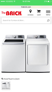 Samsung washer and dryer set for sale
