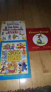 Curious george, Richard Scarry, and 365 bedtime stories