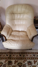 Beige Leather Sofas - excellent condition