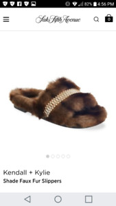 Kendall & Kylie Faux Fur Slippers