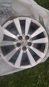 4 Rims from a 2010 toyota corolla sport