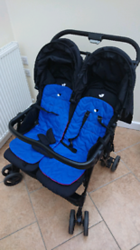 Joie 2 seater double pram with rain cover