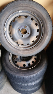 steel wheels with good tires 175/65/14 4x100 bolt pattern