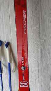 Nordic skiis, poles and boots in excellent shape