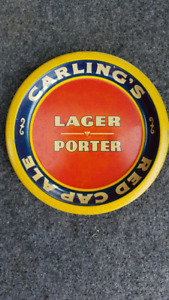 Carling Lager Porter Red Cap Ale Metal Tip Tray