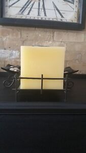 Never lit - Square Candle in Iron Holder