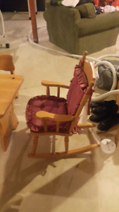 Kids Rocking Chair and Bassinet