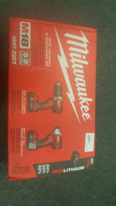Milwaukee M18 cordless 2-tool Combo Kit In box great condition