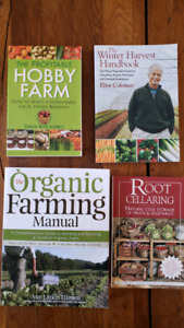 4 New Books on Hobby/Organic Farming and Root Cellaring