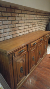 Solid walnut buffet