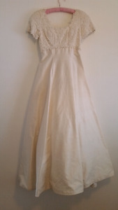 Wedding dress (or tailored evening gown)
